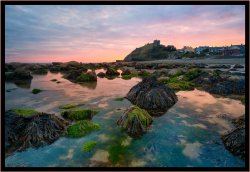 Criccieth Castle at Sunset