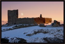 Moonrise over Criccieth Castle